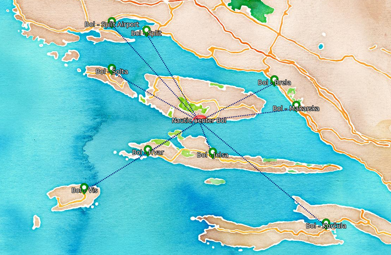 Boat Excursions Map